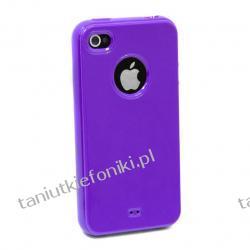 Nakładka TPU na iPhone 4/4S - fioletowa