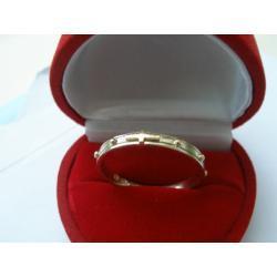 Różaniec - obrączka ze złoto 0,585