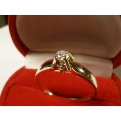 Pierścionek z diamentem 0.105 ct H/VS2 na zaręczyny