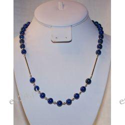 Naszyjnik z lapis lazuli w srebrze Na rękę