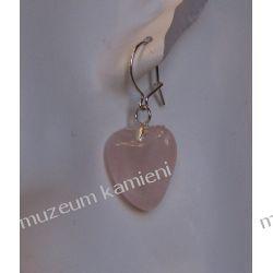 Kolczyki z kwarcu różowego w srebrze Na rękę