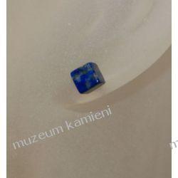 Kosteczki kolczyki z lapis lazuli w srebrze