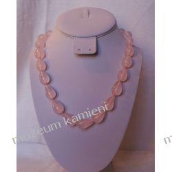 Naszyjnik z kwarcu różowego  Na rękę