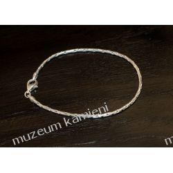 Bransoleta ze srebra B125 - 18,8 cm Kolczyki