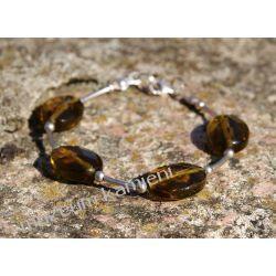 Oliwin (Perydot, Chryzolit) - bransoletka w srebrze Naszyjniki