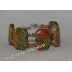 Unakit - bransoleta w srebrze Na rękę