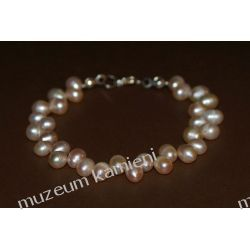 Bransoleta z pereł w srebrze B222 minerały
