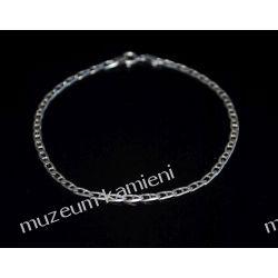 Delikatna srebrna bransoleta B177 minerały