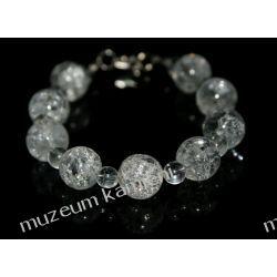 Kryształ górski - bransoletka w srebrze B230