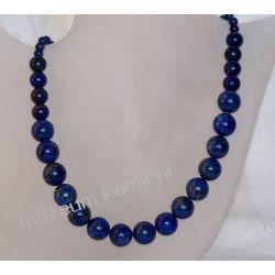 Naszyjnik z lapis lazuli w srebrze N47