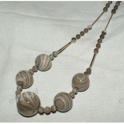 Naszyjnik z krzemienia pasiastego w srebrze