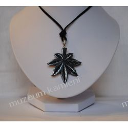 Hematyt wisior w kształcie liścia W010 Rzeźba