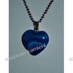Piękny agat wisior w kształcie serca W071 minerały