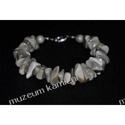 Piękna bransoleta z krzemienia pasiastego w srebrze B108