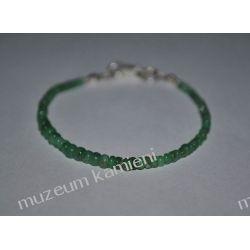 Szmaragd - piękna bransoleta w srebrze B60 minerały
