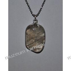 Piękny wisior z kwarcu dymnego w srebrze WA083 Wisiorki