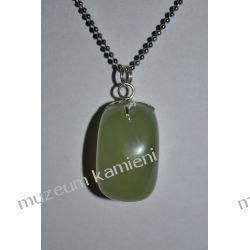 Jadeit - piękny wisior w srebrze WA027 Kolczyki