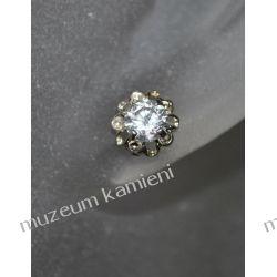 Piękne kolczyki w srebrze KWK096 - cyrkonia Biżuteria i Zegarki