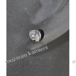 Serduszko kolczyki w srebrze KWK094 - cyrkonia Biżuteria i Zegarki