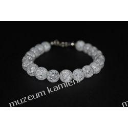 Kryształ górski - piękna bransoletka w srebrze B103 Biżuteria i Zegarki
