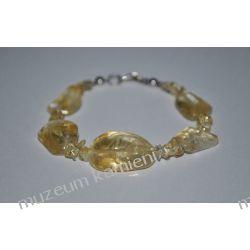 Bransoletka z cytrynu w srebrze B178 Biżuteria i Zegarki