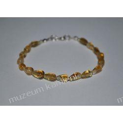 Urocza bransoletka z cytrynu w srebrze B122 Biżuteria i Zegarki