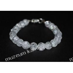 Kryształ górski - piękna bransoletka w srebrze B170 Biżuteria i Zegarki
