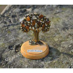 Drzewko z bursztynami DBUR01 Kolczyki