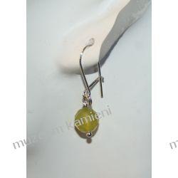 Piękne jadeitowe kolczyki w srebrze KW003 Na rękę