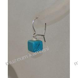 Kolczyki z turkmenitu w srebrze KW046 Kolczyki
