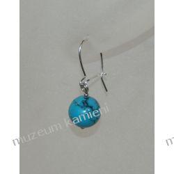 Kolczyki z turkmenitu w srebrze KW033 Biżuteria i Zegarki