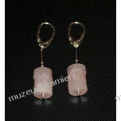 Kolczyki z kwarcu różowego w srebrze KW103 Kolczyki