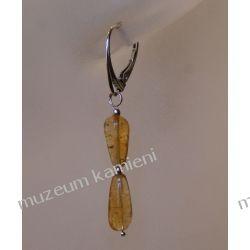 Kolczyki z cytrynu w srebrze KW102 Biżuteria i Zegarki