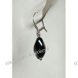 Kolczyki z onyksu w srebrze KW007 Biżuteria i Zegarki
