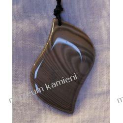 Przepiękny wisior z krzemienia pasiastego w srebrze  Ozdobne zawieszki