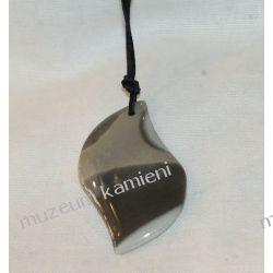Przepiękny wisior z krzemienia pasiastego w srebrze Na rękę