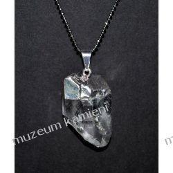 Piękny wisior z naturalnego kryształu górskiego W094 Biżuteria i Zegarki