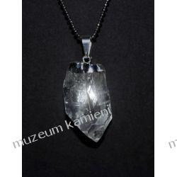Wyjątkowy wisior z naturalnego kryształu górskiego W095 Biżuteria i Zegarki