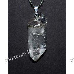 Wisior z naturalnego kryształu górskiego W096 Biżuteria i Zegarki