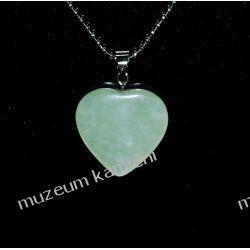 Wisior z jadeitu w kształcie serca W068 Wisiorki