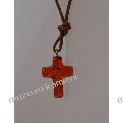 Wisior krzyżyk na rzemieniu W025 Biżuteria i Zegarki