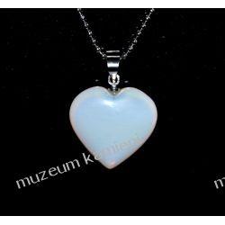 Piękny wisior z indyjskiego kamienia księżycowego w kształcie serca W072 Kolczyki
