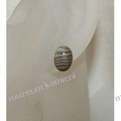 Kolczyki z krzemienia pasiastego w srebrze KWK031 Biżuteria i Zegarki