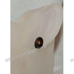 Kolczyki z onyksu w srebrze KWK036 Biżuteria i Zegarki