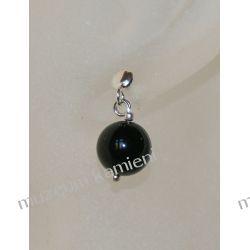 Kolczyki - kulka z onyksu w srebrze KWK054 Biżuteria i Zegarki