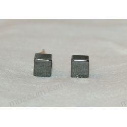 Hematyt kolczyki w srebrze KWK011 Biżuteria i Zegarki