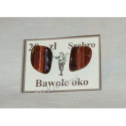 Bawole oko kolczyki ze srebra KWK008 Na rękę