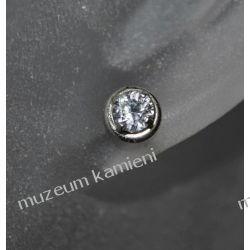 Kolczyki w srebrze KWK027 - cyrkonia KWK027 Naszyjniki