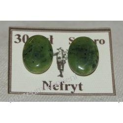 Kolczyki z nefrytu w srebrze KWK050 minerały