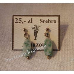 Kolczyki z amazonitu w srebrze KWK046 Na rękę